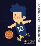 childhood drawing boy play...   Shutterstock . vector #1687780504