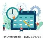 vector illustration time...   Shutterstock .eps vector #1687824787