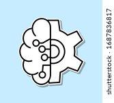 mechanic brain sticker icon....