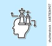 chess  marketing  brain sticker ...
