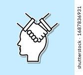 agree  handshake  head sticker...