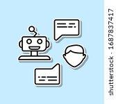 robot and human conversation...