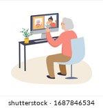 elderly  old people  senior... | Shutterstock .eps vector #1687846534