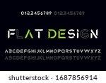 modern flat alphabet font....
