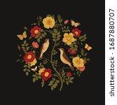 birds and butterflies are in... | Shutterstock .eps vector #1687880707