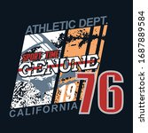 typography of california with... | Shutterstock .eps vector #1687889584