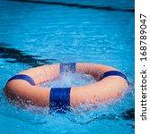 peolple throw life ring... | Shutterstock . vector #168789047