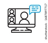video conference icon. people... | Shutterstock .eps vector #1687897717