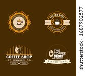 vector set of coffee shop logos ... | Shutterstock .eps vector #1687902577