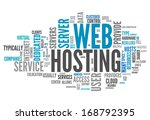 word cloud with web hosting... | Shutterstock . vector #168792395