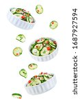 cucumber spice salad with red... | Shutterstock . vector #1687927594