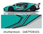 sports car wrapping decal design   Shutterstock .eps vector #1687928101