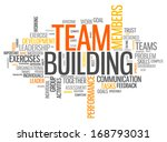word cloud with team building... | Shutterstock . vector #168793031
