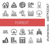 set of forest icons. such as...   Shutterstock .eps vector #1687932367