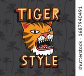 tiger illustration and... | Shutterstock .eps vector #1687940491