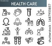 health care line icon set on...   Shutterstock .eps vector #1687955857