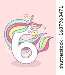 number six in the form of a... | Shutterstock .eps vector #1687963471