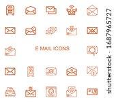editable 22 e mail icons for...   Shutterstock .eps vector #1687965727