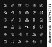 editable 36 fuel icons for web... | Shutterstock .eps vector #1687967461