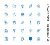 editable 25 freedom icons for... | Shutterstock .eps vector #1687969474