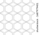 the geometric black and white... | Shutterstock .eps vector #1687979401