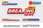 tv news bars set vector. news... | Shutterstock .eps vector #1687995094