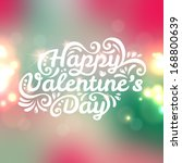 happy valentine's day lettering ... | Shutterstock .eps vector #168800639