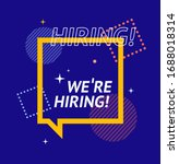 we are hiring concept square...