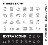 fitness and gym line icon set... | Shutterstock .eps vector #1688069884