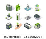 clean energy isometric icon set.... | Shutterstock .eps vector #1688082034