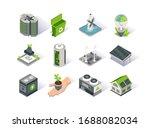 clean energy isometric icon set.... | Shutterstock .eps vector #1688082034