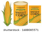 vector banner for canned sweet... | Shutterstock .eps vector #1688085571