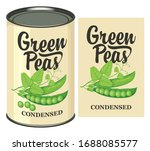 vector banner for canned green... | Shutterstock .eps vector #1688085577