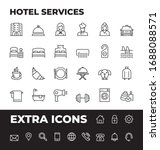 hotel services line icon set... | Shutterstock .eps vector #1688088571