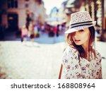 portrait of beautiful girl in... | Shutterstock . vector #168808964