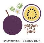 vector passion fruit clip art.... | Shutterstock .eps vector #1688091874