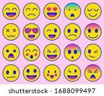 emoji icons set. emoticon for...   Shutterstock .eps vector #1688099497