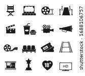 cinema icons set vector... | Shutterstock .eps vector #1688106757
