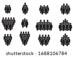 people icon set in trendy flat... | Shutterstock .eps vector #1688106784