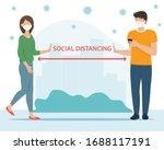 social distancing concept.... | Shutterstock .eps vector #1688117191