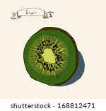 vector watercolor hand drawn... | Shutterstock .eps vector #168812471