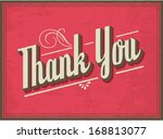 thank you greeting vector... | Shutterstock .eps vector #168813077