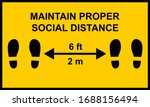 warning sign reminding people... | Shutterstock .eps vector #1688156494