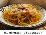 Spaghetti Alla Carbonara With...
