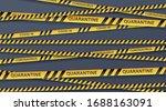 danger tape quarantine. warning ... | Shutterstock .eps vector #1688163091