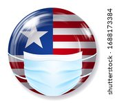 round glass button in usa flag...   Shutterstock .eps vector #1688173384