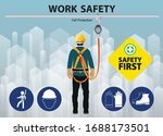fall protection  construction... | Shutterstock .eps vector #1688173501