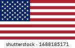 official flag of usa. us flag... | Shutterstock .eps vector #1688185171