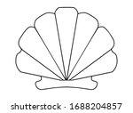 scallop shell   vector linear...   Shutterstock .eps vector #1688204857