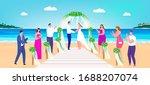 wedding beach ceremony vector... | Shutterstock .eps vector #1688207074
